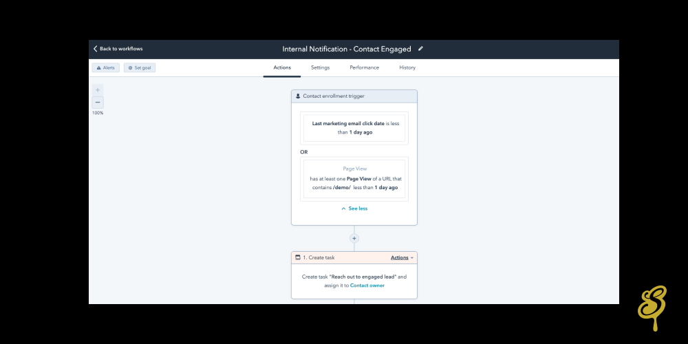 Screenshot example of CRM that works well